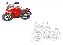 motorcycle colored coloring pages kindergarten preschool