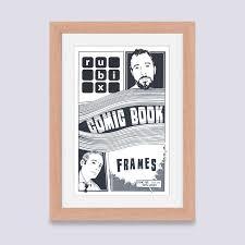 light wood picture frames wood light comic book frame rubix frames