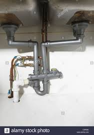kitchen sink wastes waste pipe and fittings under a double kitchen sink and earth