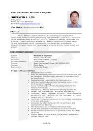 Civil Engineering Technician Resume Mechanical Technician Cv Template