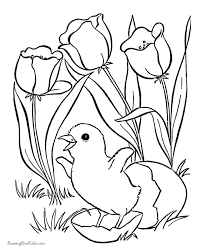 flower coloring pages for kids to print easter flower coloring