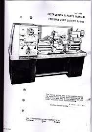 colchester triumph 2000 lathe manual
