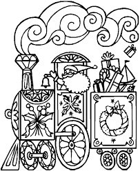 coloring pages of a christmas train christmas train coloring pages