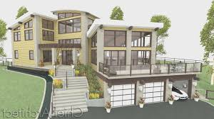 Interior Exterior Plan Simple And by Basement Creative Sloped Lot House Plans Walkout Basement Home