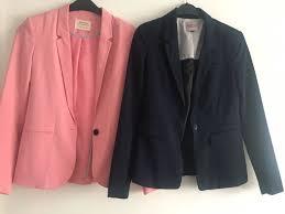 blazer blau rosa bershka m jpg