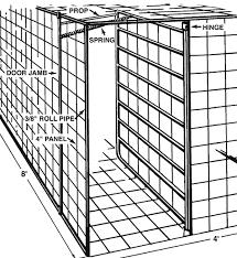 Swing Door for Portable Hog Trap