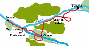 Loire Valley France Map by Cycling Accommodation And Cycling Holidays In France