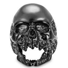 aliexpress com buy retro stainless steel biker skull ring