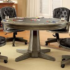 small round game table furniture of america baletta traditional interchangeable grey round