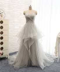 Light Gray Bridesmaid Dress Lovely Wedding Dresses Long Wedding Gown Tulle Wedding Gowns