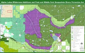 Pratt Map Washington Wild 2015 Alpine Lakes Wilderness Additions