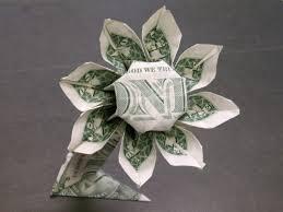 money flowers easy dollar bill origami flower found here info