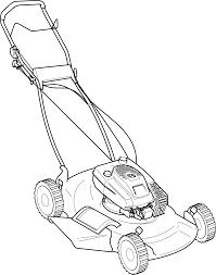 clipart push mower
