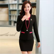 wholesale women skirt suits high quality candy color office