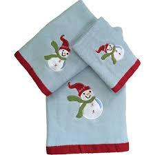 towel sets snowman