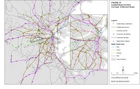 Green Line Boston Map by Core Efficiencies Study Of The Massachusetts Bay Transportation