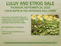 etrog for sale lulav etrog sale with west side judaica event lincoln square