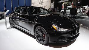 black maserati sports car automotiveblogz maserati ghibli nerissimo black edition new york