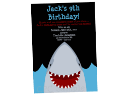 Party Invitations With Rsvp Cards Shark Birthday Invitation Shark Party Invitations Printable
