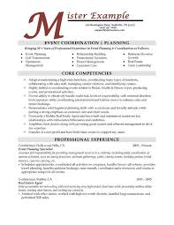 ideas collection event planner resume objective on cover letter