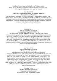 commercial model job description resume for models professional portfolio exles for models
