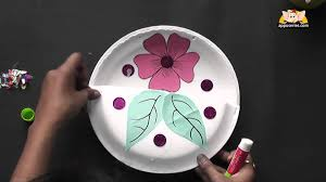 how to make a flower basket arts u0026 crafts in hindi youtube