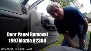 door panel removal u002797 mazda b2300 youtube