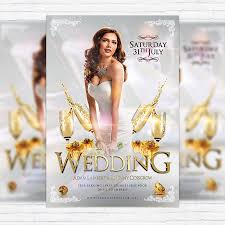wedding poster template wedding premium flyer template cover exclsiveflyer