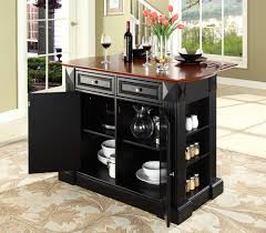 kitchen island without top furniture modern black mobile kitchen carts and portable kitchen