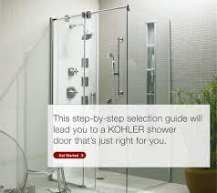 kohler shower door selector showers bathroom