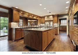 Luxury Traditional Kitchens - traditional kitchen luxury home oak wood stock photo 70741186