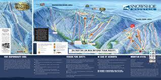 Montana Ski Resorts Map by Snowshoe Mountain Skimap Org