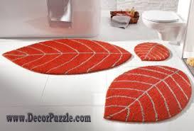 Modern Orange Rugs Awesome Bathroom Best Modern Orange Bath Rug Set Home Decor With