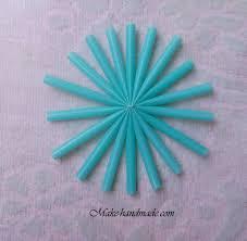 christmas crafts snowflakes with plastic straws make handmade