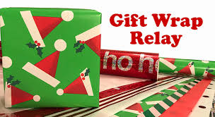 gift wrap gift wrap relay christmas party