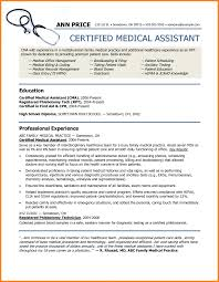 Ats Resume Format Medical Assistant Resume Templates Examples 2015 Template For 2