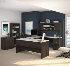 Bestar U Shaped Desk Desks U Shaped Desk With Lateral File And Bookcase Bestar