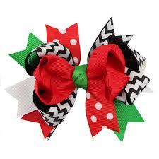 christmas accessories women ladies girls hair clip bowknot hair