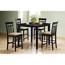 amazon com mainstays 5 piece counter height dining set warm