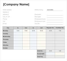 Excel Template For Timesheet Free Timesheet Templates Thebridgesummit Co