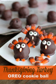 oreo cookie balls thanksgiving turkey pinkwhen