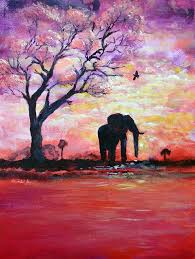 elephant painting original acrylic elephant painting gentle strength from within by ashleigh dyan bayer