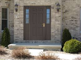 Front Entryway Doors Aluminum Commercial Front Entry Doors With Sidelights Fiberglass