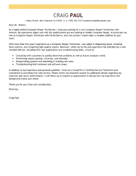 best ideas of cover letter for it technician with additional job