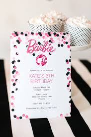 Invitation Cards Free Download Best 25 Barbie Invitations Ideas On Pinterest Barbie Birthday