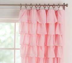 Ruffled Curtains Pink Light Pink Ruffle Blackout Curtains Best Curtains 2017 Regarding