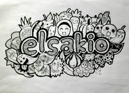 doodle name elsakio doodle name by elsakio on deviantart