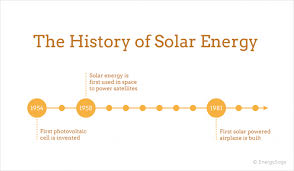 solar power history timeline and invention of solar panels