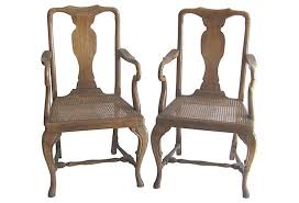 Antique French Armchairs Vintage French Caned Wooden Arm Chairs Pair Omero Home