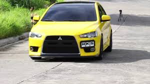 modified mitsubishi modified yellow mitsubishi lancer feature 4k youtube